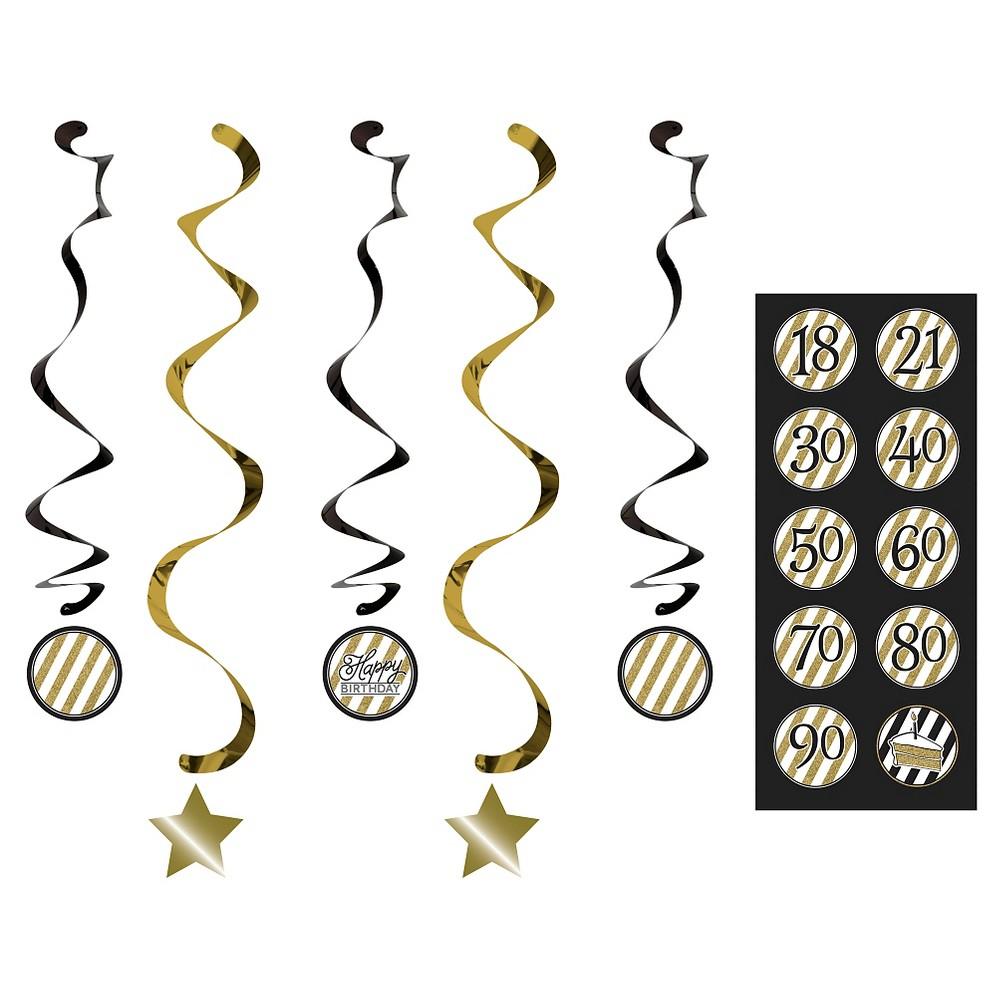 5ct Black Gold Dizzy Danglers