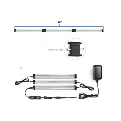 20  Led Workspace Light Bars Silver - Rocelco