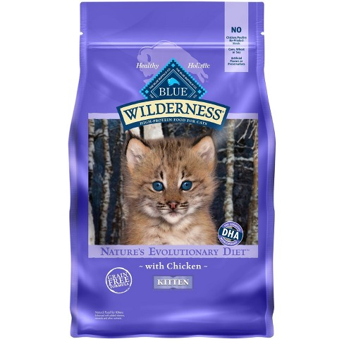 Blue Buffalo Wilderness Grain Free with Chicken Kitten Premium Dry Cat Food - image 1 of 4