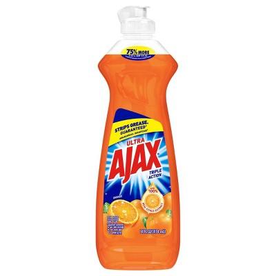 Ajax Ultra Triple Action Dishwashing Liquid Dish Soap - Orange
