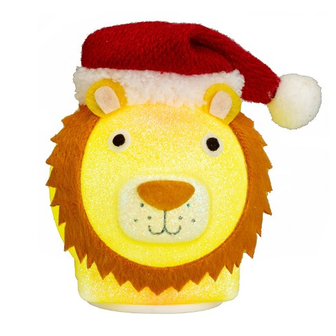 Philips Christmas USB Powered LED Glitter Lion with Santa Hat - image 1 of 2