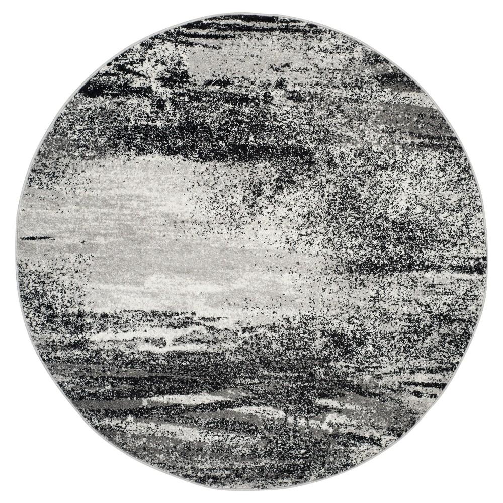 Nykko Area Rug - Silver/Multi (6' Round) - Safavieh, Silver/Multi-Colored