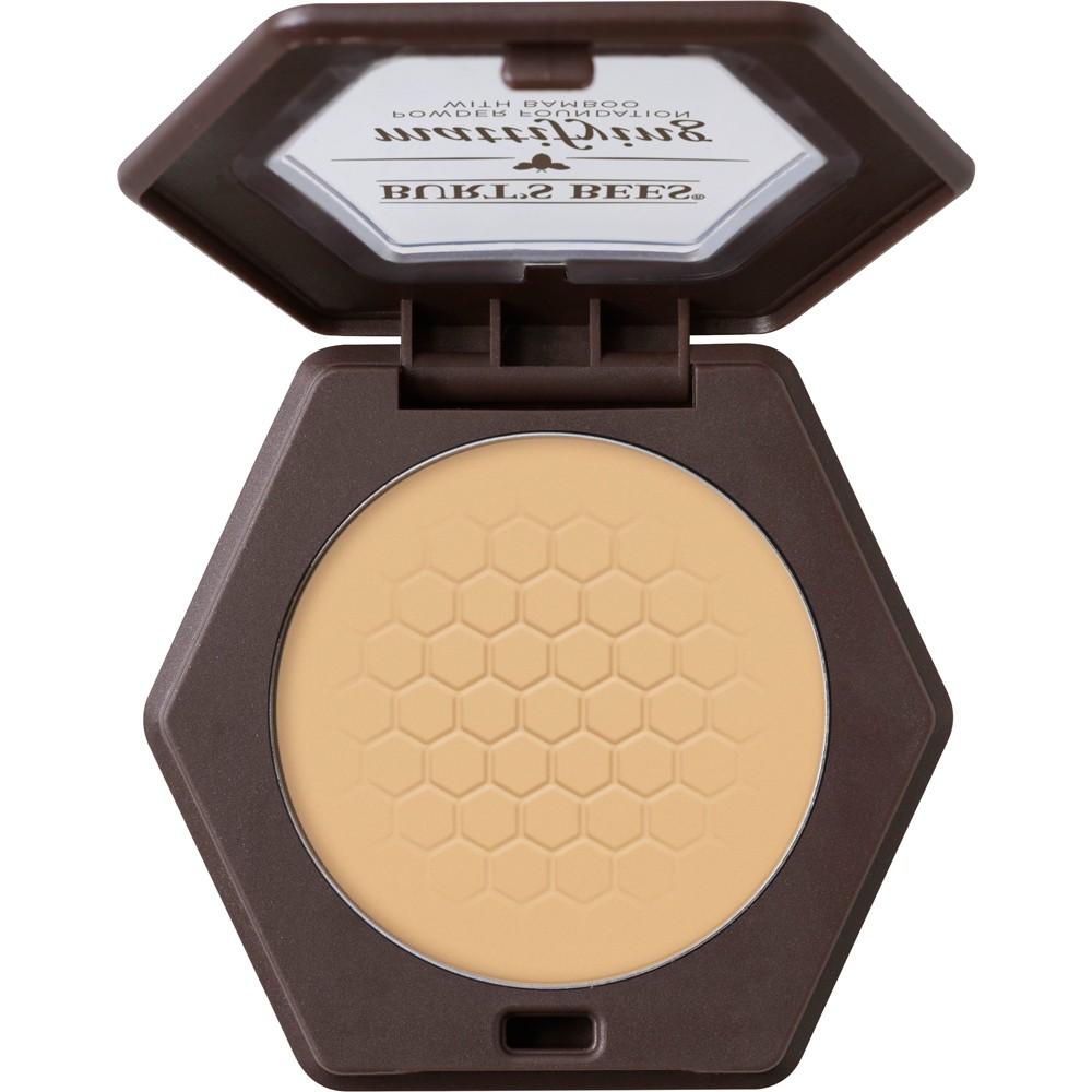 Image of Burt's Bees 100% Natural Mattifying Powder Foundation - 1110 Vanilla - 0.3oz, 1110 White