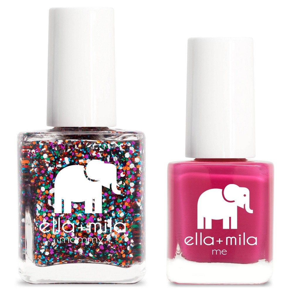 Image of ella+mila Mommy&Me Nail Polish Set Party in a Bottle + Sweet Tart - 0.69 fl oz