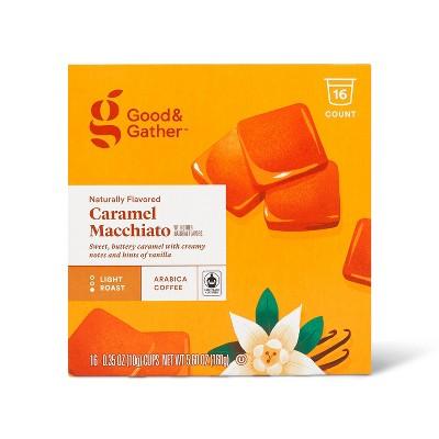 Naturally Flavored Caramel Macchiato Light Roast Coffee - 16ct Single Serve Pods - Good & Gather™