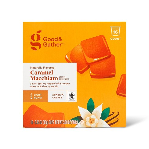 Naturally Flavored Caramel Macchiato Light Roast Coffee - 16ct Single Serve Pods - Good & Gather™ - image 1 of 4