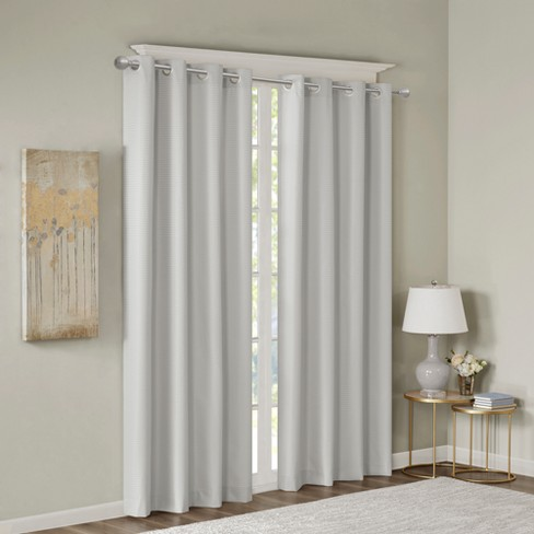 Lexie Jacquard Solid Room Darkening Panel - image 1 of 3
