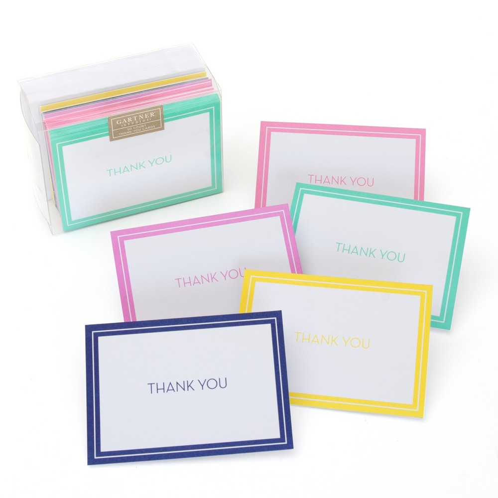 "Image of ""50ct Solid """"Thank You"""" Note Cards"""