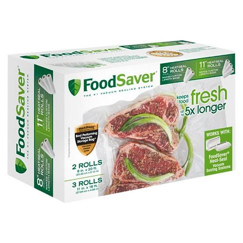 "FoodSaver 8""& 11"" Heat-Seal Rolls - FSFSBF0746-000 - image 1 of 2"