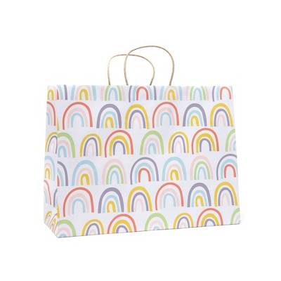 Large Recycled Paper Rainbow Gift Bag - Spritz™