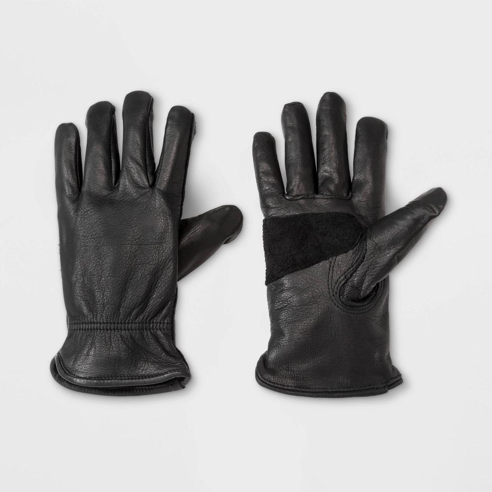 Image of Men's Leather Glove - Goodfellow & Co Black L/XL, Men's, Size: Large/XL