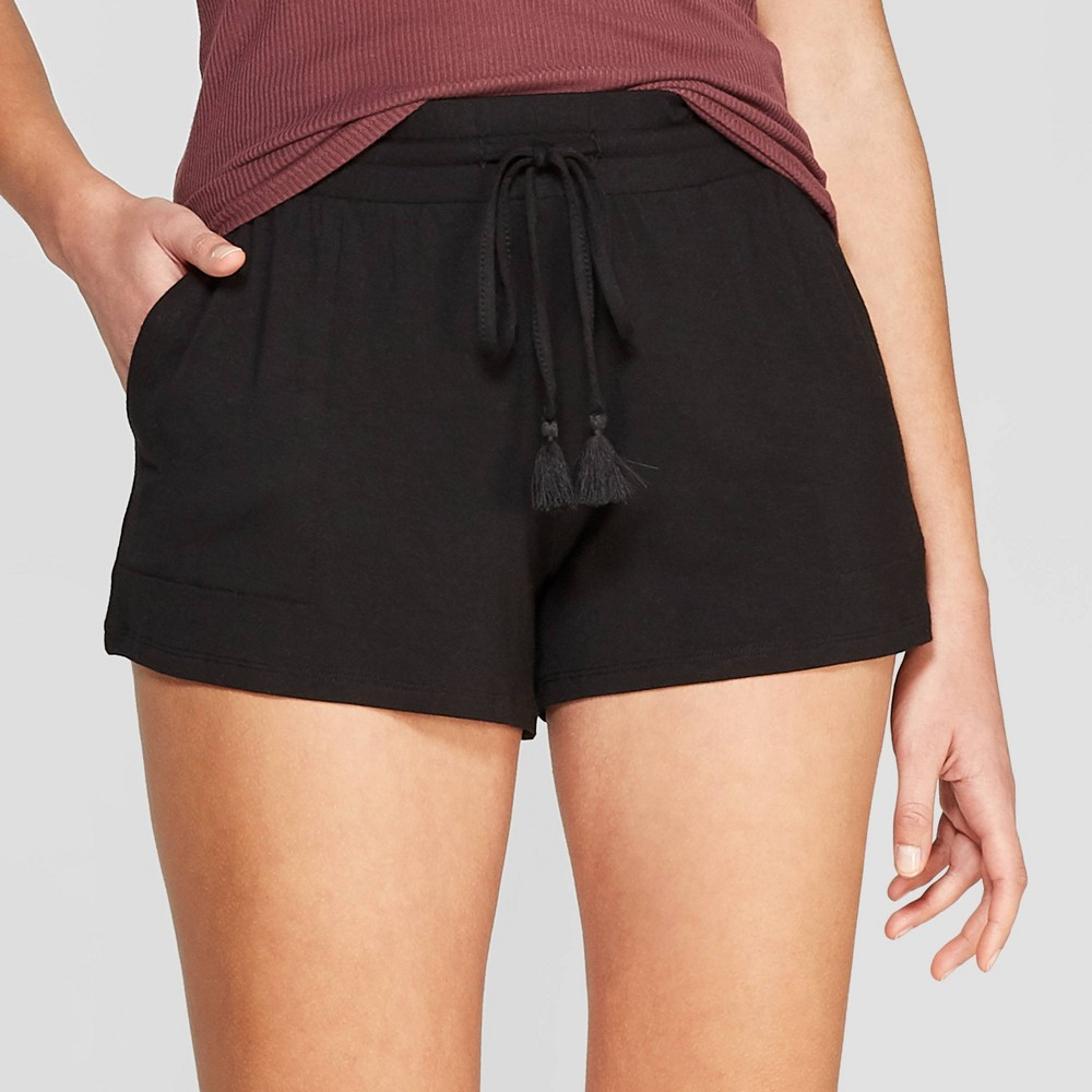 Women's Beautifully Soft Pajama Shorts - Stars Above Black L