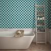 Terrazzo Star Self-Adhesive Removable Wallpaper Teal - Tempaper - image 2 of 2