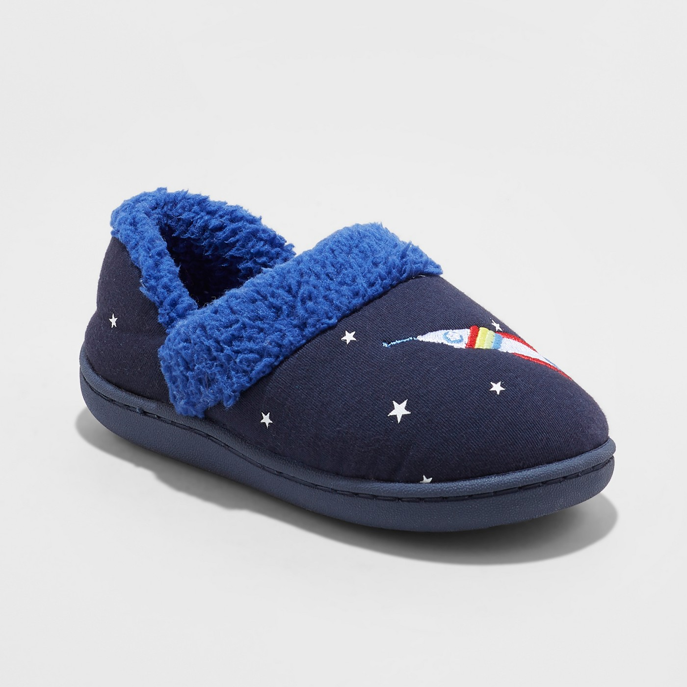 Toddler Boys' Mercury Outer Space Slipper - Cat & Jack™ Navy - image 1 of 4