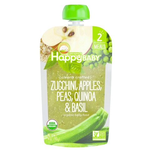 Happy Baby Clearly Crafted, Zucchini Apples Peas Quinoa & Basil - 4oz - image 1 of 1