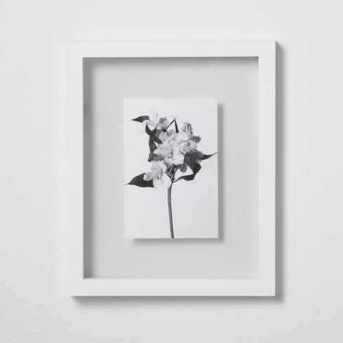 "Thin Gallery Float Frame White 8""x10"" - Made By Design™ - image 1 of 2"