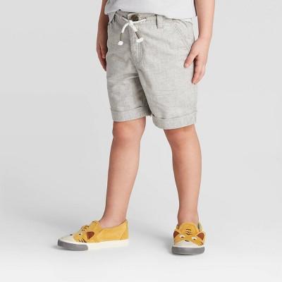 Toddler Boys' Dressy Chino Shorts - Cat & Jack™ Gray 18M