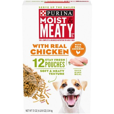 Moist & Meaty Chicken Flavor Dry Dog Food - 12ct Pack