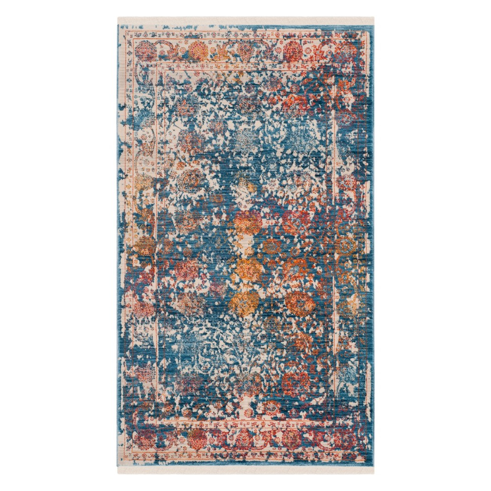 3'X5' Shapes Loomed Accent Rug Turquoise - Safavieh, Turquoise/Multi-Colored