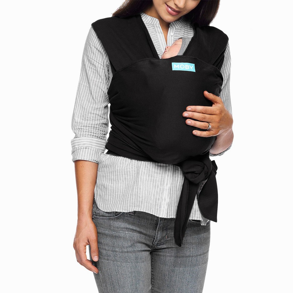 Image of Moby Classic Wrap Baby Carrier - Black
