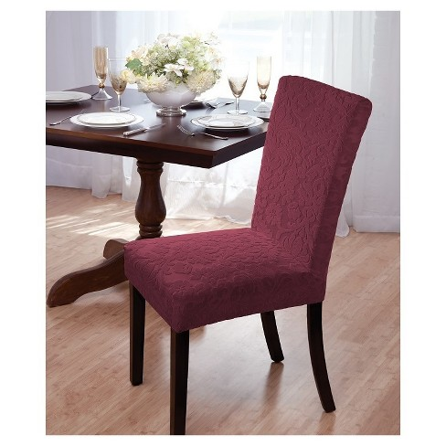 Velvet Damask Dining Room Chair Cover