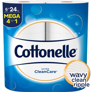 Cottonelle Clean Care Toilet Paper - 6 Mega Rolls