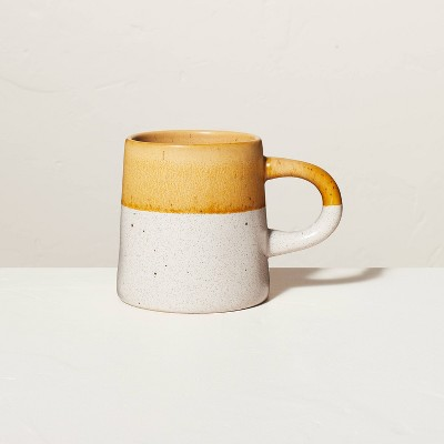 18oz Dipped Stoneware Mug Speckled Gold - Hearth & Hand™ with Magnolia