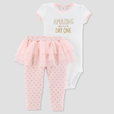 Baby Girls' 2pc Amazing Bodysuit and Tutu Pants Set - Just One You® made by carter's Pink 3M