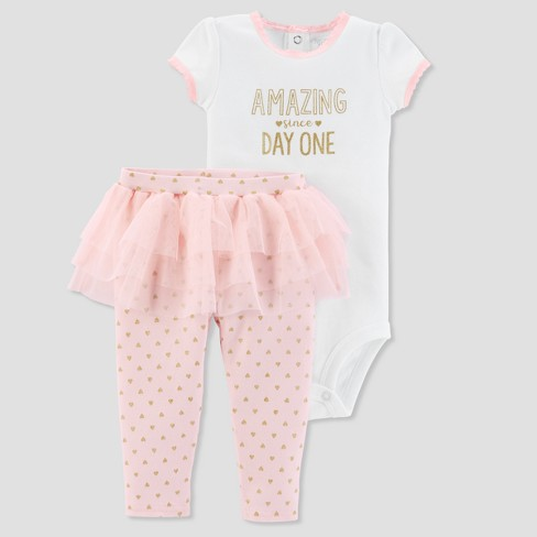 edcd97e28 Baby Girls' 2pc Amazing Bodysuit and Tutu Pants Set - Just One You® made by  carter's Pink