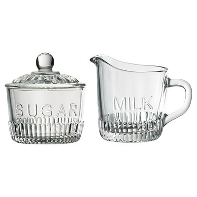 Global Amici Bordeaux Sugar Bowl & Creamer Set