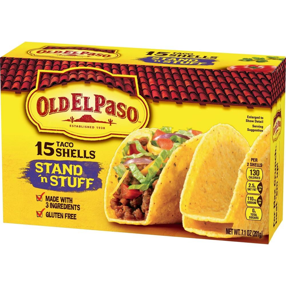 Old El Paso Gluten Free Stand 39 N Stuff Taco Shells 7 1oz 15ct