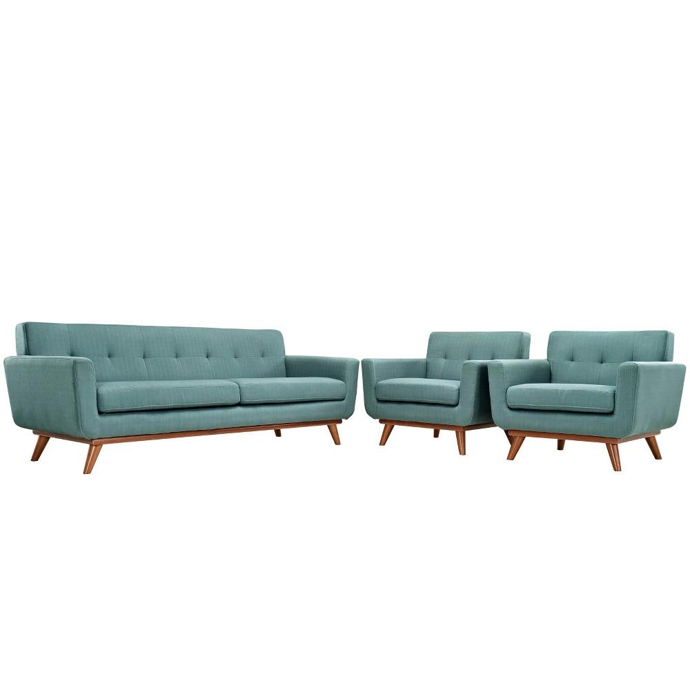 Engage Armchairs and Sofa Set of 3 Laguna - Modway