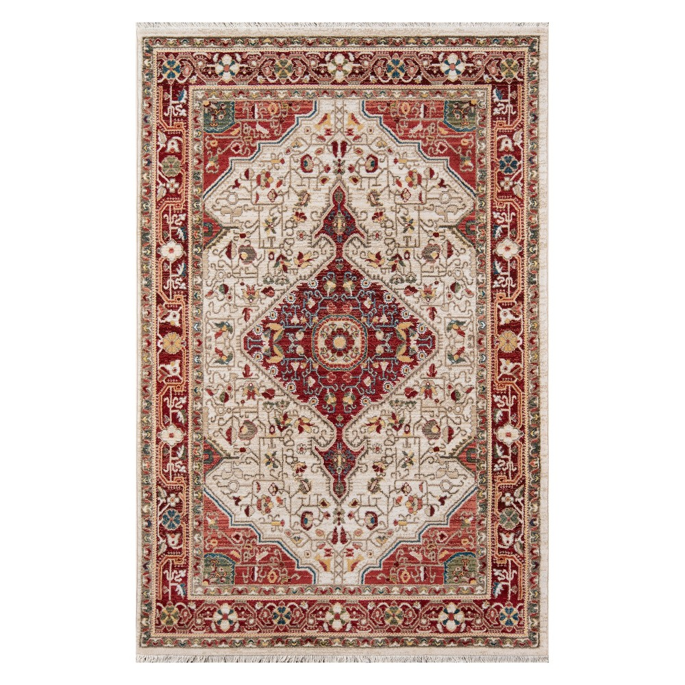 33X53 Medallion Loomed Accent Rug Red - Momeni Price