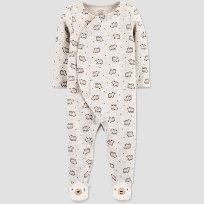 Baby Sleep 'N Play Bear Print 1pc Pajama - Just One You® made by carter's Gray 6M