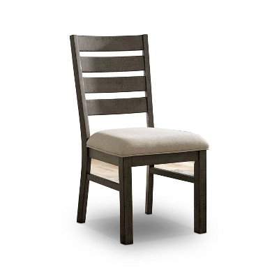 Set of 2 Volney Ladder Back Side Chair Gray - HOMES: Inside + Out