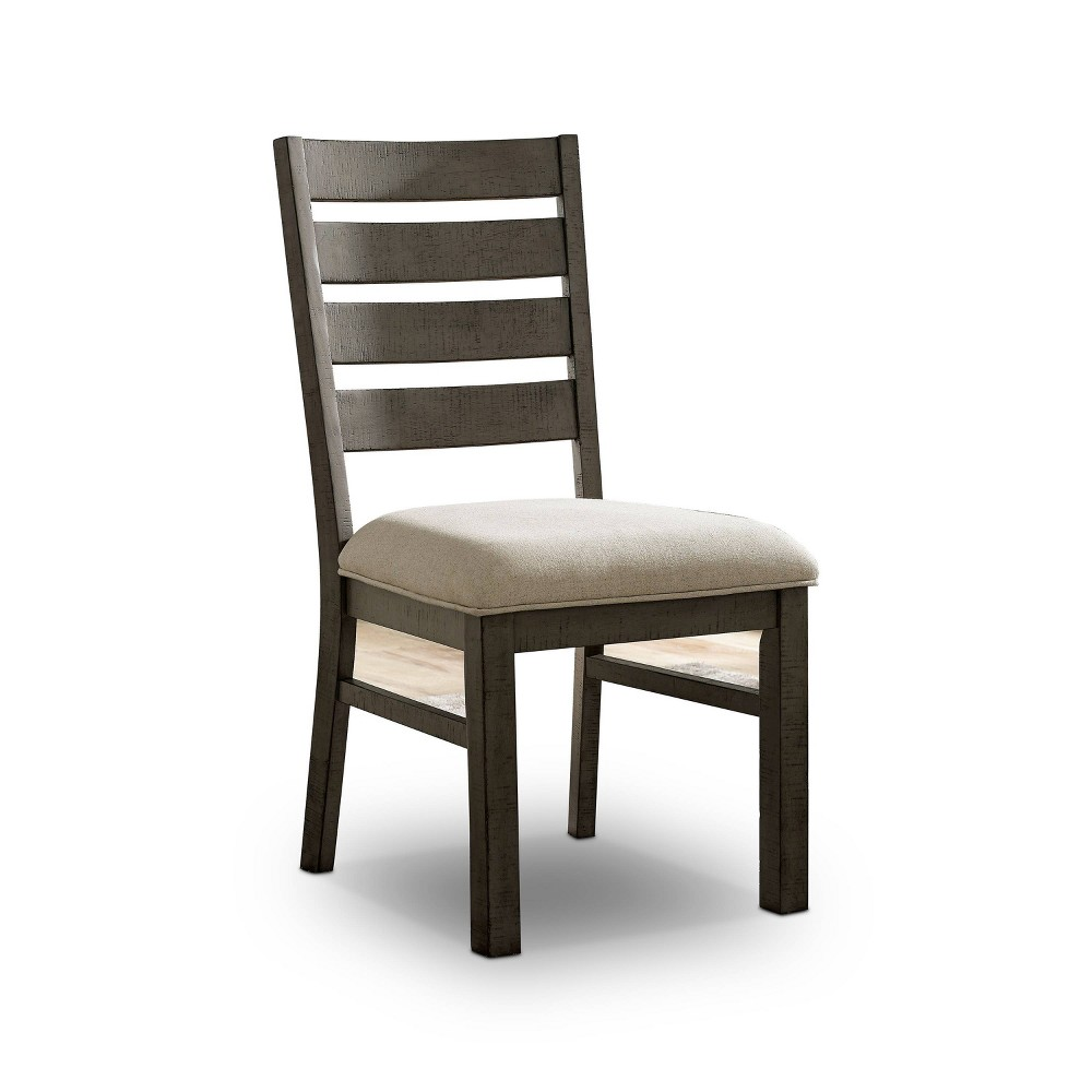 Reviews Set of 2 Volney Ladder Back Side Chair Gray - HOMES: Inside + Out