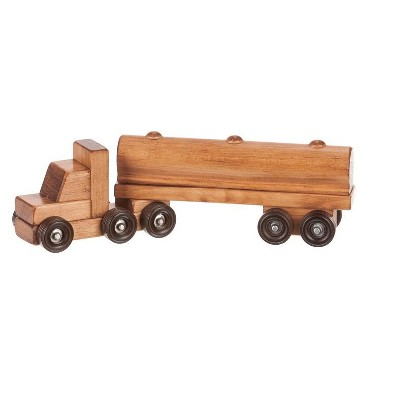 Remley Kids Wooden Toy Tank Truck