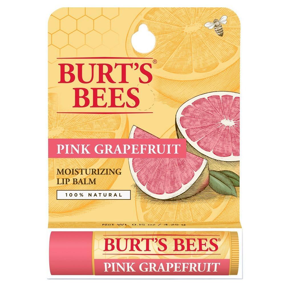 Image of Burt's Bees Pink Grapefruit Lip Balm Blister Box - 0.15 oz
