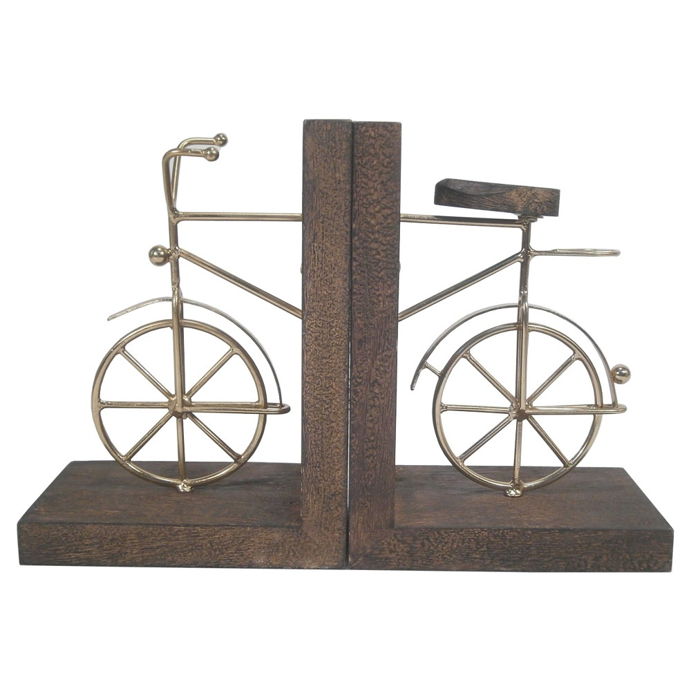 Image of Book End - Bicycle - Threshold , Gold