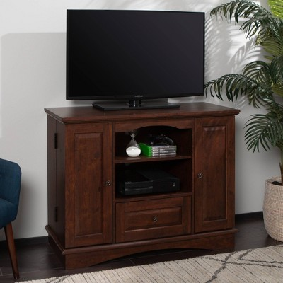 "Highboy Wood Storage Console TV Stand for TVs up to 48"" - Saracina Home"