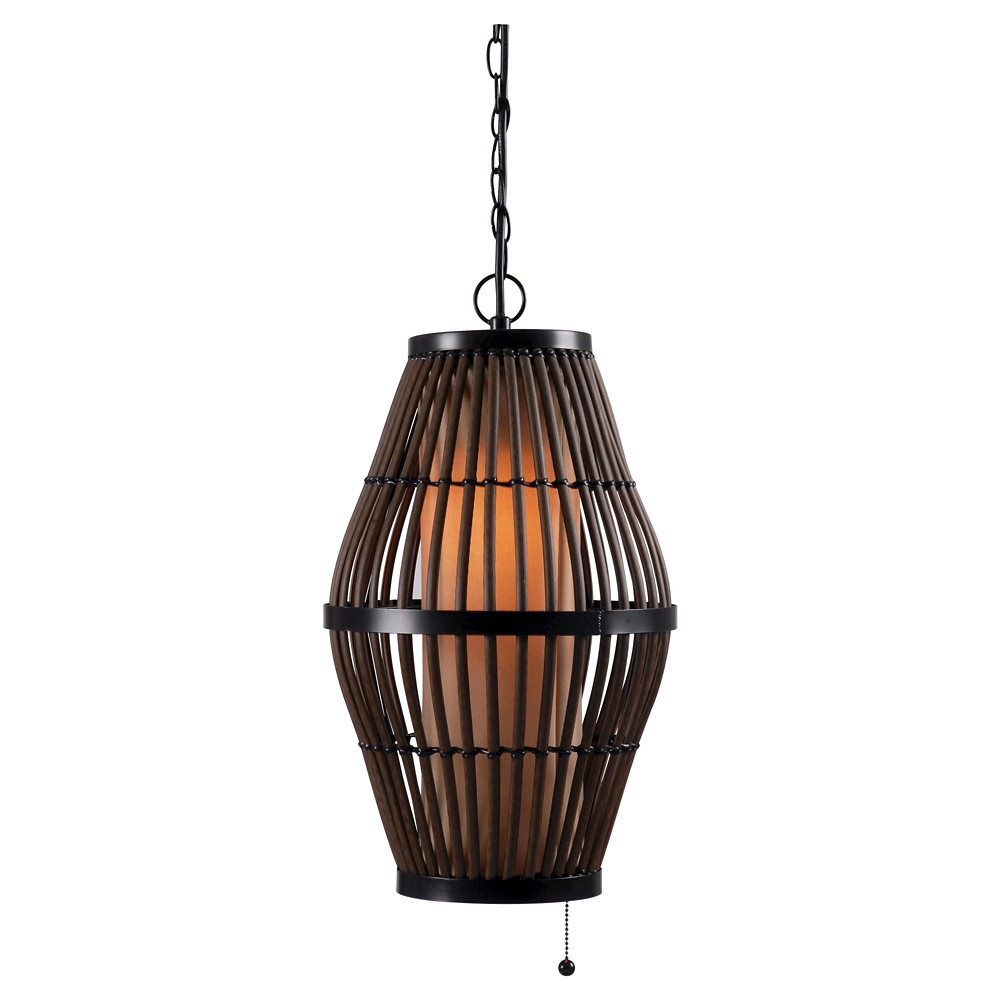 Image of Outdoor Pendant Light Kenroy Natural Metal