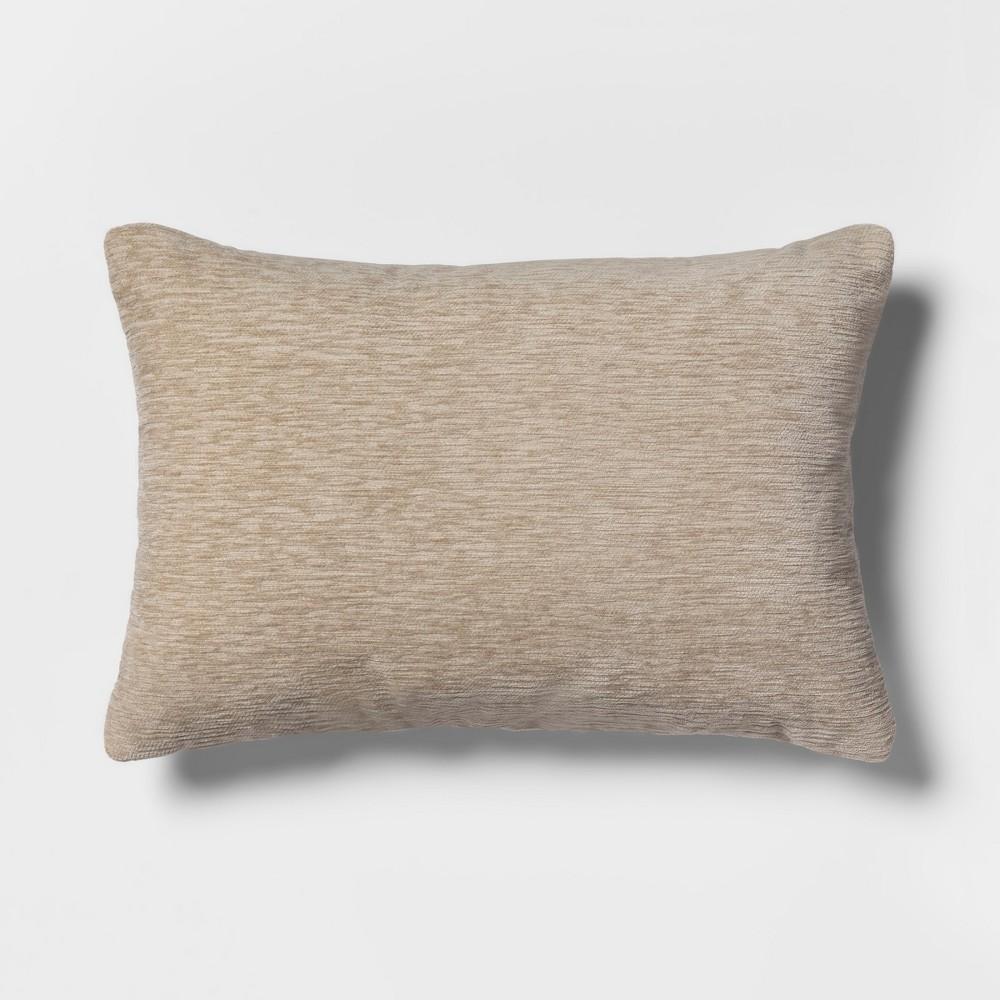 Chenille Lumbar Throw Pillow Neutral - Threshold
