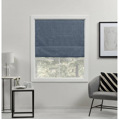 Acadia Total Blackout Roman Curtain Shades - Exclusive Home