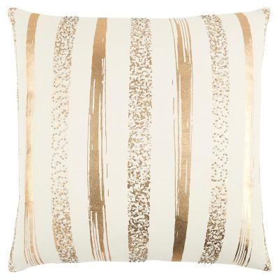 Rizzy Home Stripe Throw Pillow Gold
