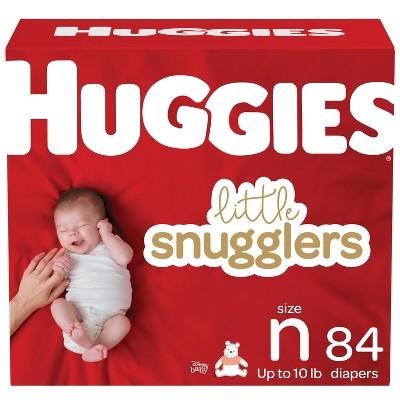 Huggies Little Snugglers Diapers Super Pack - Size Newborn (84ct)