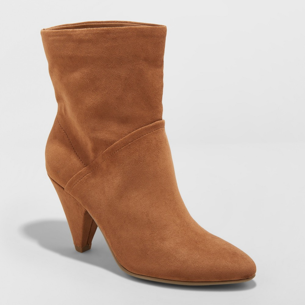 Women's Kalyssa Fashion Slouch Boots - A New Day Cognac (Red) 5.5