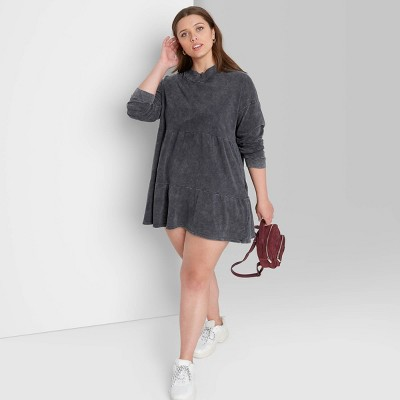 Women's Long Sleeve Sweatshirt Dress - Wild Fable™
