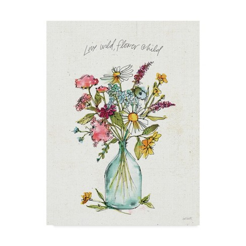 "Trademark Fine Art 24"" x 32"" Anne Tavoletti 'Simply Petals II' Canvas Art - image 1 of 3"