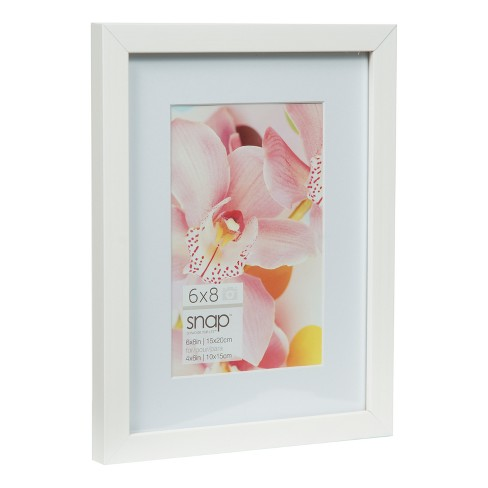 6X8 Mat To 4X6 White Wood Frame - Gallery Solutions : Target