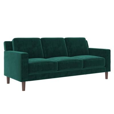 Taliyah 3 Seater Sofa Green Velvet - Room & Joy